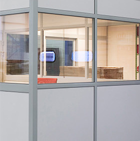 Glass dividing partitions - G60